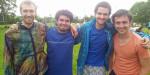 Die Finalisten des Klingnauer-Turniers (Kahu, Uli, Jonathan & David)