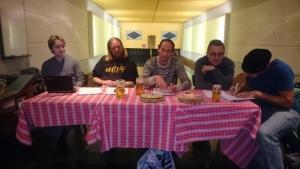 Das Kubbtour-OK: Lüg, Hämp, Präsi Bjogge, Beno