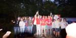 Das Podest mit Weltmeister Gipfelstürmer & Freunde und den drittplatzierten T'Is Gebeurt