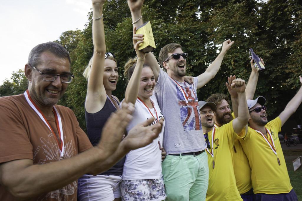 Das Podest der Lilla-Baslermeisterschaft mit Streusalz, Langsam Style und Kubbaner II.